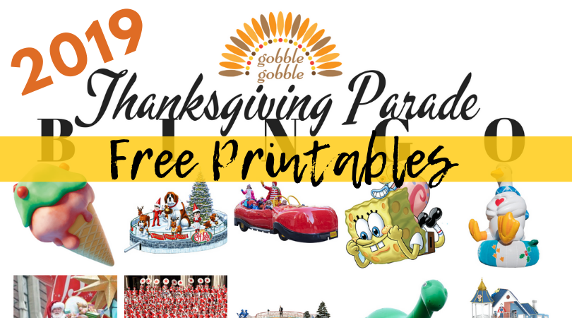 Thanksgiving Day Parade BINGO for 2019 {Free Printable}