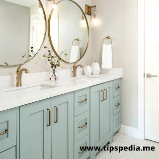 turquoise bathroom cabinet