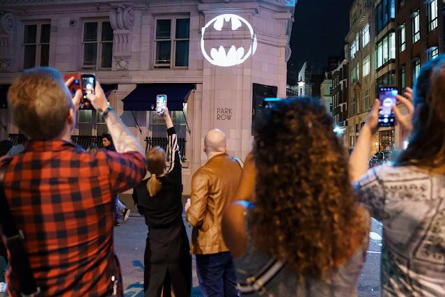Batman Day 2021 Bat-Signal Park Row, London