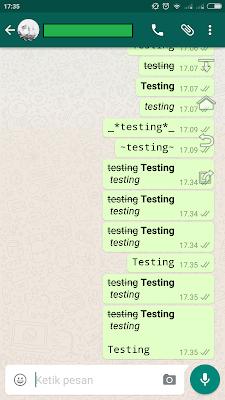 Cara Mudah Merubah Variasi dan Mengganti Font Di Whatsapp
