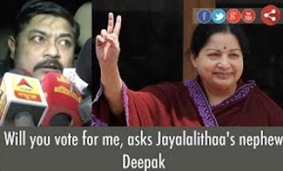 Will you vote for me, asks Jayalalithaa's nephew Deepak
