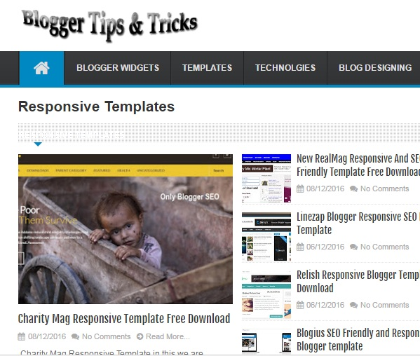 Linezap Blogger Responsive SEO Friendly Template
