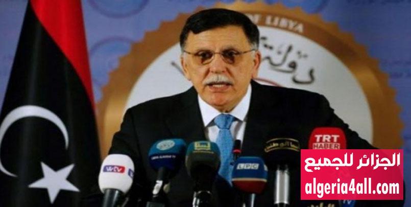 رئيس المجلس الرئاسي لحكومة الوفاق الوطني في ليبيا فايز السراج,الأزمة في ليبيا: حكومة الوفاق ترحب بمبادرة الجزائر لحل الأزمة.