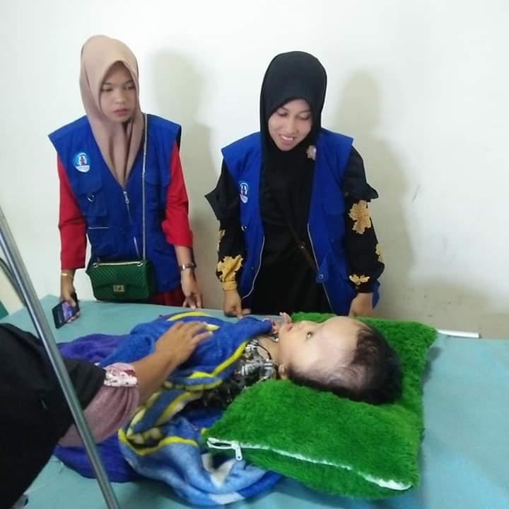 LPD Ajak bantu Penderita Hidrosefalus anak dari keluarga mualaf, Aceh Timur
