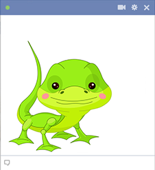 Lizard Facebook sticker