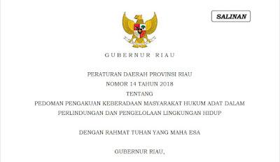 Hukum Adat Masyarakat Adat Melayu Riau