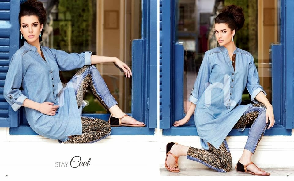Nishat Linen Pret Summer collection www.fashionwearstyle.com
