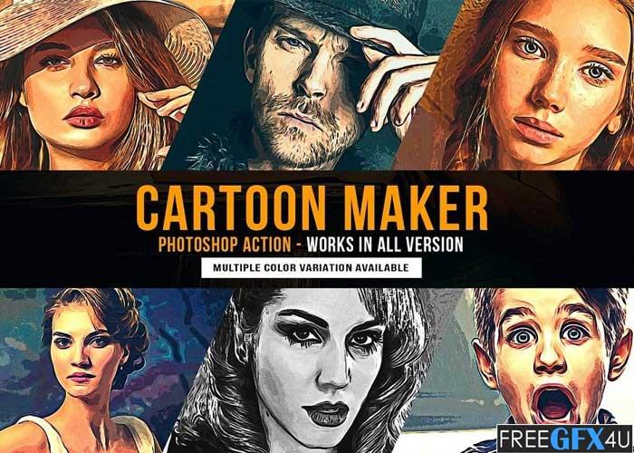 Cartoon Maker Photoshop Action