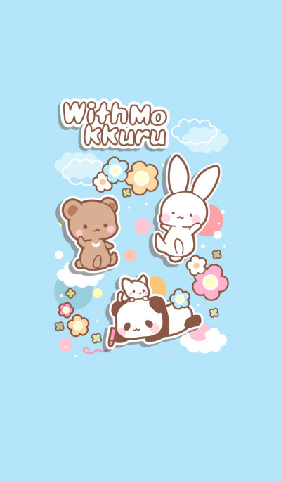 Withmokkuru bear, rabbit, panda, cat