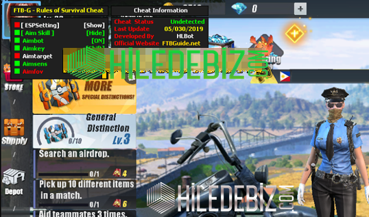 Rules of Survival FTB-G Aimbot-ESP Hilesi Haziran 2019