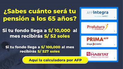 Calculadora de Pensión AFP ¿Sabes con cuánto te vas a pensionar?