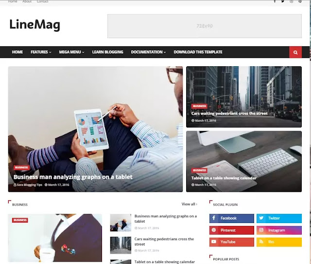 Free Best Seo Friendly Responsive Blogger Templates