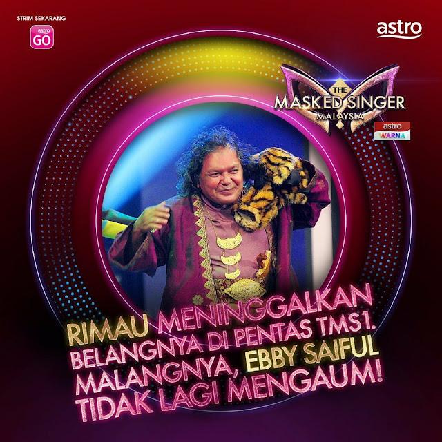 ebby saiful tersingkir minggu 2 the masked singer malaysia