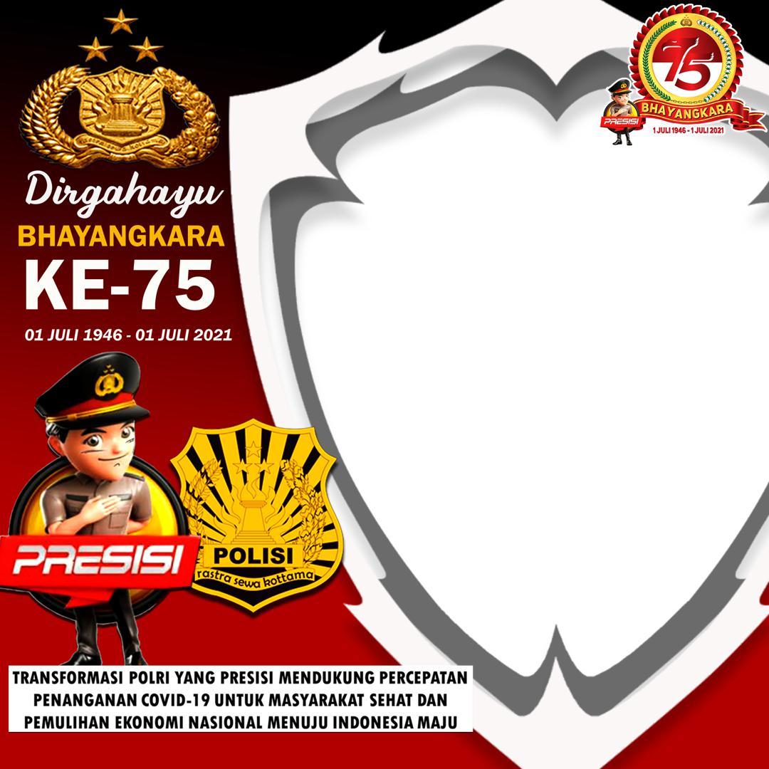Link Download Frame Bingkai Twibbon Hari Jadi ke-75 Bhayangkara 2021