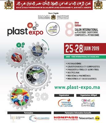 Sous  le Haut patronage de Sa Majesté le Roi Mohammed VI  La 8ème édition du Salon international de la plasturgie reçoit 300 exposants de 33 pays