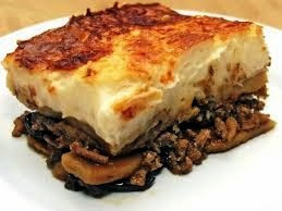 Moussaka. The most traditional of Greek dishes.