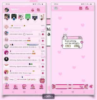 Pink Cute Theme For YOWhatsApp & KM WhatsApp By Agatha