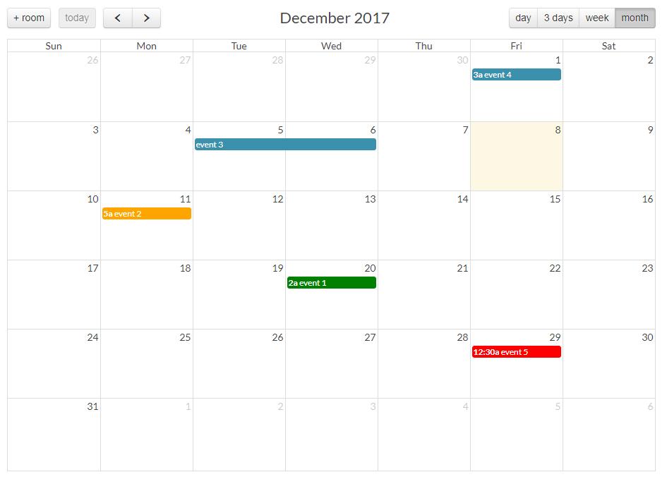 Javascript Calendar.A Javascript Event Calendar With Customizable And Open Source Ui