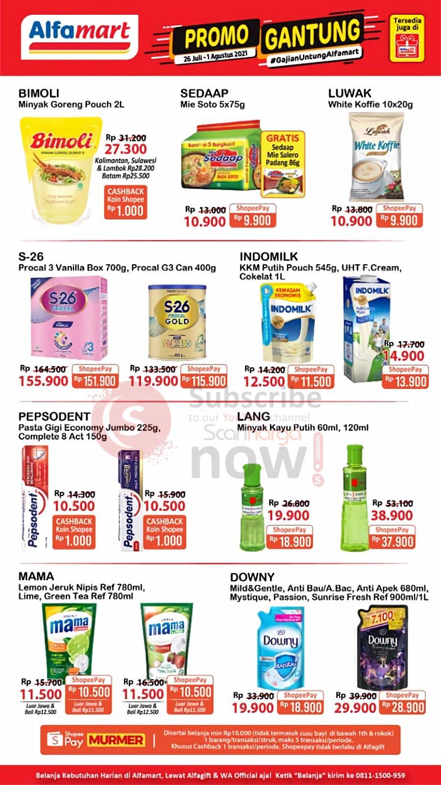 Promo Alfamart Gajian Untung (Gantung) Periode 26 Juli - 1 Agustus 2021