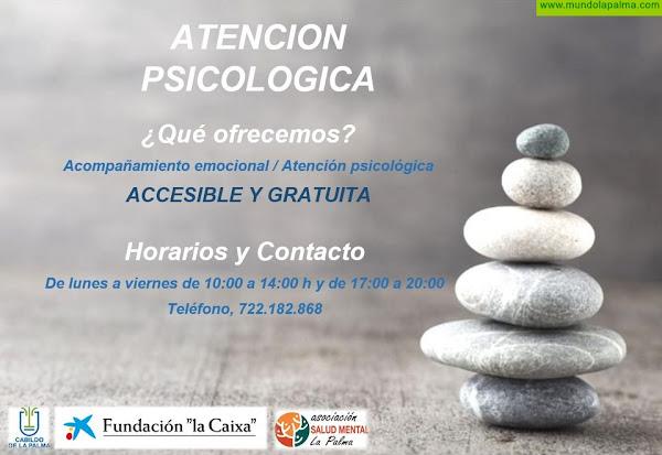 Servicio de atención psicológica gratuita por Salud Mental La Palma