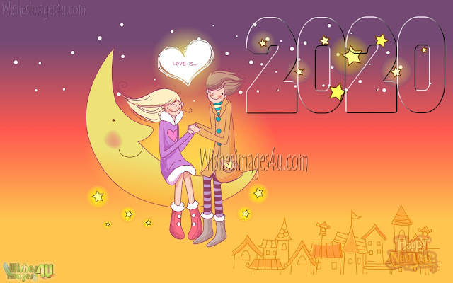 Happy New Year 2020 Love Desktop Background 1080p Download Free