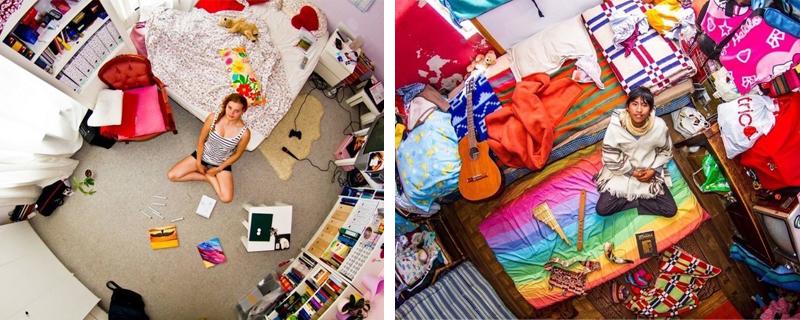 Habitaciones de jóvenes alrededor del mundo