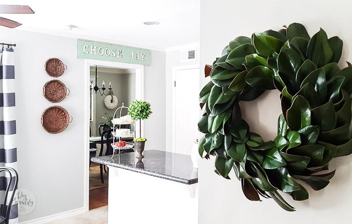 topiary on kitchen island