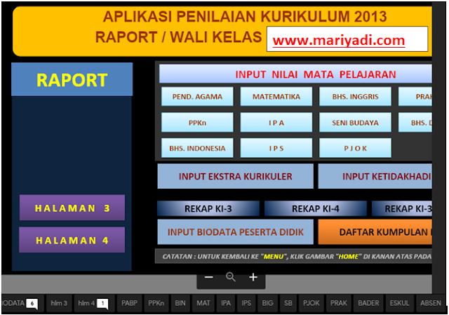 Download Aplikasi Raport K13 SMP Revisi Terbaru Semester 1 dan Semester 2