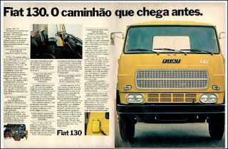 propaganda caminhão Fiat 130 - 1977, caminhão fiat anos 70, caminhão anos 70, caminhões década 70, Oswaldo Hernandez,