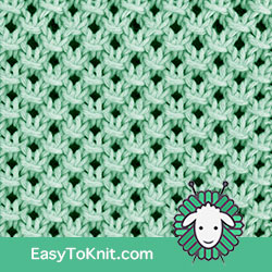 Textured Knitting 22: Knotted Openwork | Easy to knit #knittingetitches #eyeletlace