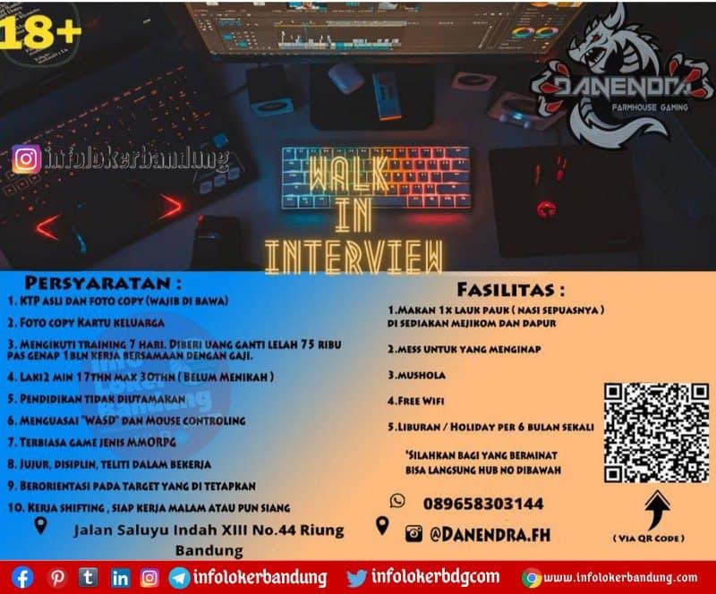 Lowongan Kerja Danendra Farmhouse Gaming Bandung Februari 2021