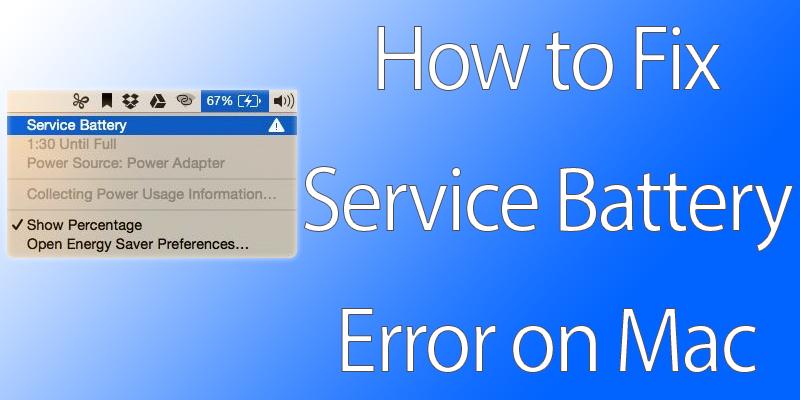 Fix Service Battery Error