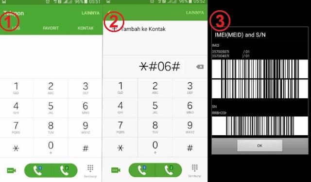 Cara Cek Kode IMEI Pada Smartphone