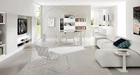 Moderna sala  color blanco