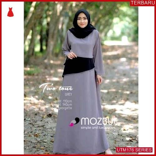 UTM176T63 Baju Twotone Muslim Dress UTM176T63 0B0   Terbaru BMGShop