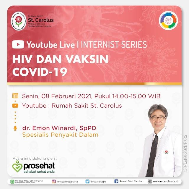 "Live Youtube ""HIV dan Vaksin COVID-19"""