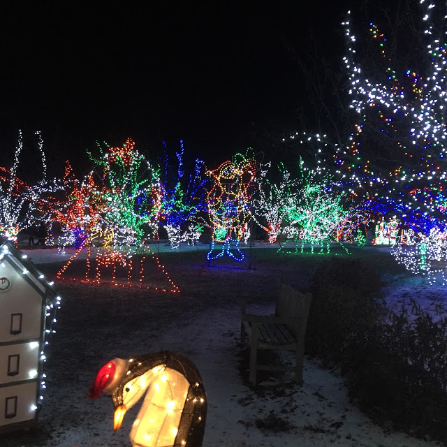 Lilacia Park in Lombard full of holiday cheer!