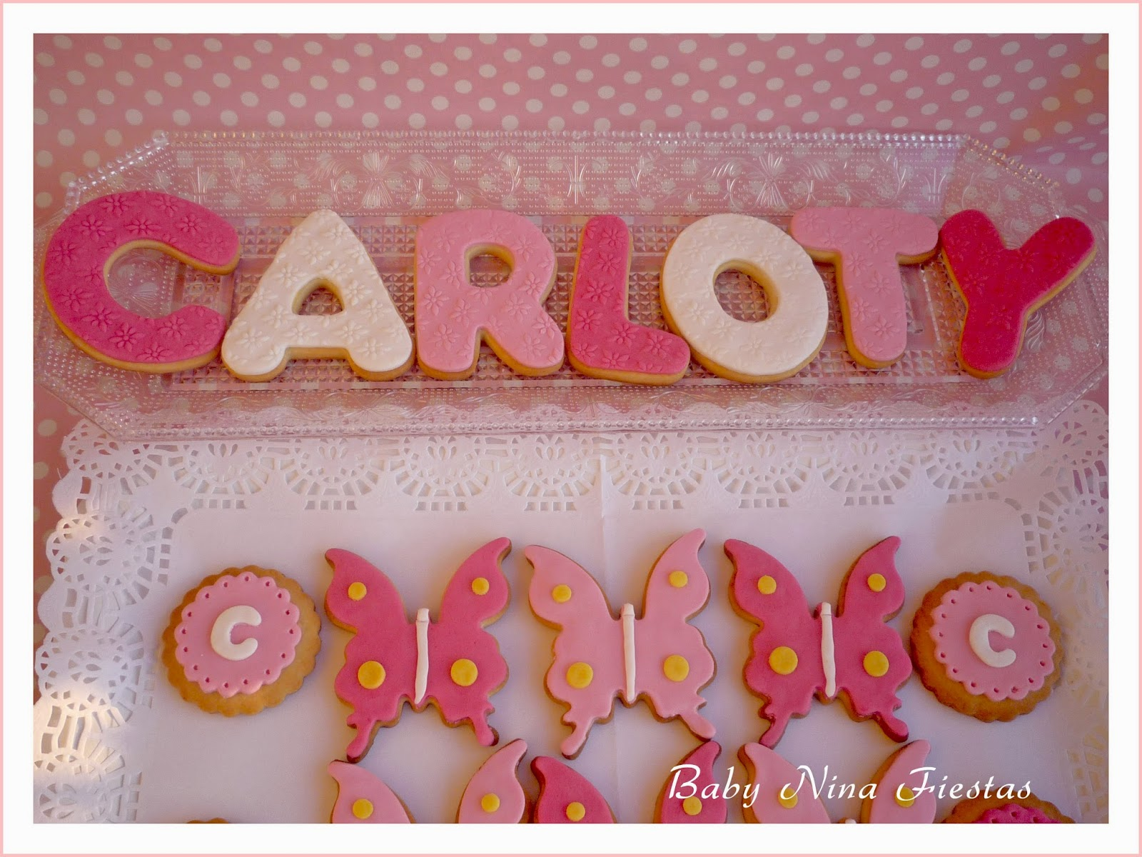 Galletas decoradas tema mariposas