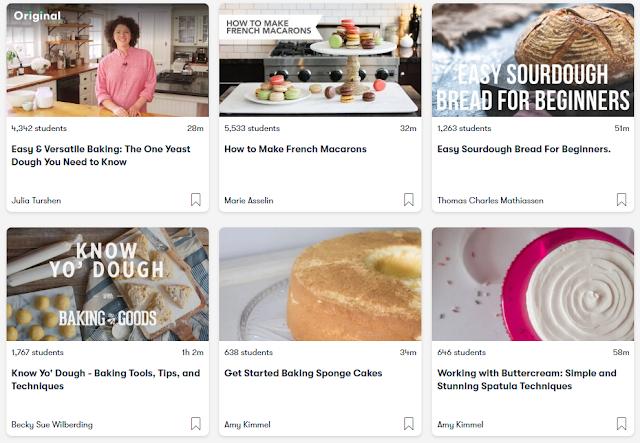 Free baking classes on Skillshare