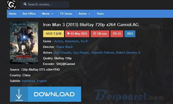 Cara Mudah Download Film di Ganool