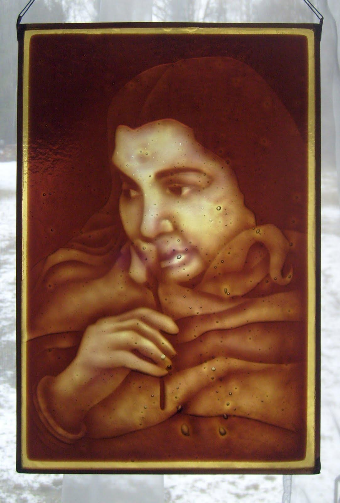 Shri Mataji vitráž