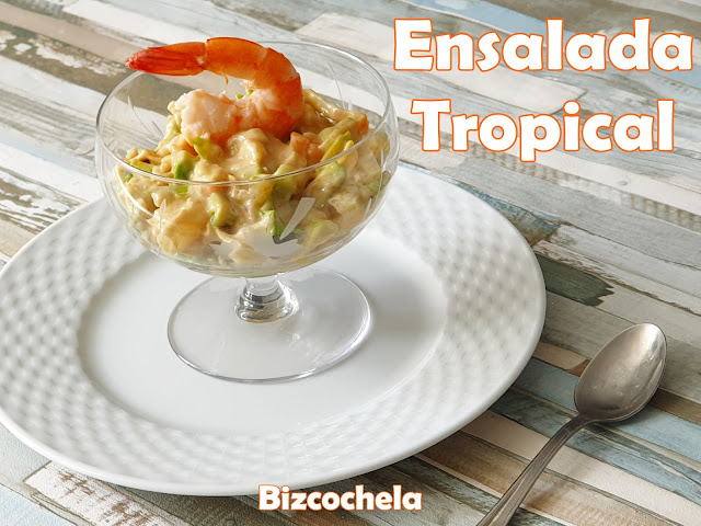 Ensalada Tropical Con Aguacate Y Langostinos