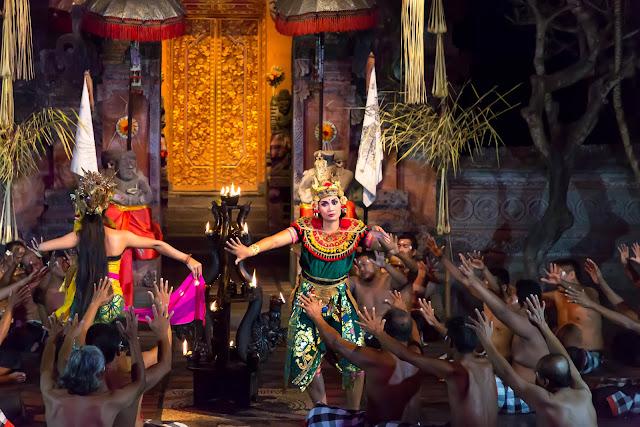 Kecak Dance Balinese traditional cultural Bali