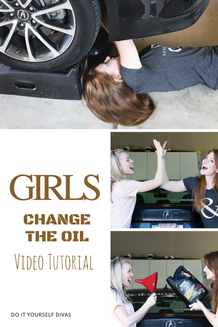 Do it yourself divas how to change the oil in your car i am a firm believer in learning new things and saving money having dave teach me how to change the oil in my car helped me achieve what i believe solutioingenieria Image collections