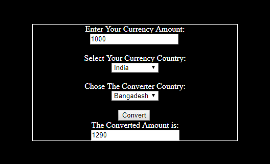 Simple JavaScript Currency Converter