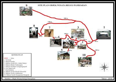 Peta Objek Wisata Religi Pamijahan