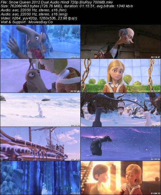 Snow Queen 2012 Dual Audio Hindi 720p BluRay 700MB worldfree4u
