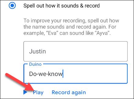"""اضغط على """"تشغيل"""" لسماع نطق الاسم"""
