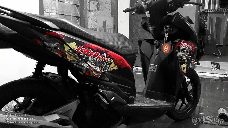Hasil akhir Honda Vario Joker Dark Red