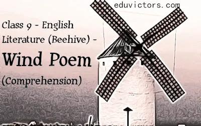 CBSE Class 9 - English Lit. - Poem - The Wind - Comprehension (#class9English)(#cbse2021)(#eduvictors)